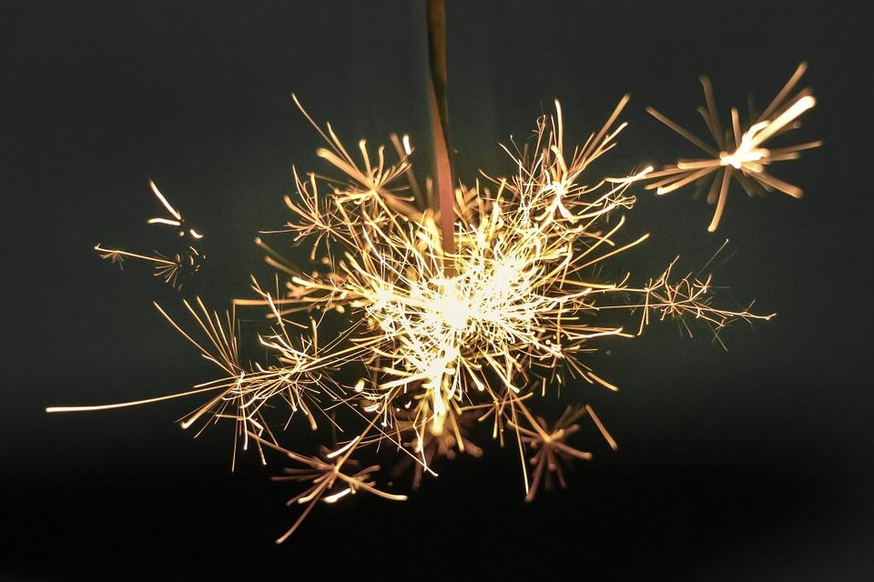 étincelles nouvel an