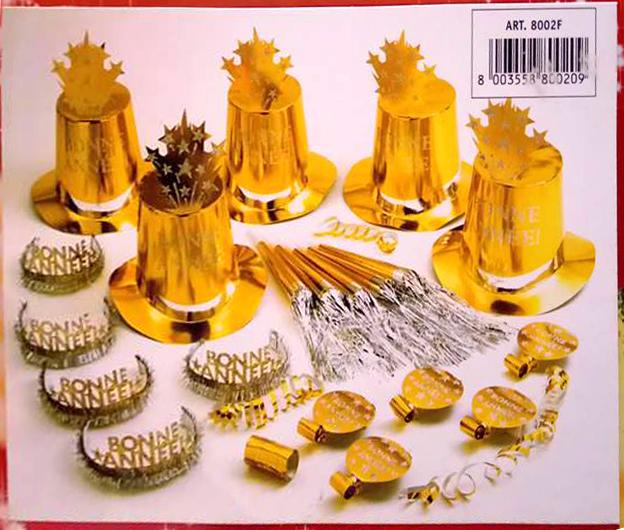 kit nouvel an doré accessoires pour nouvel an